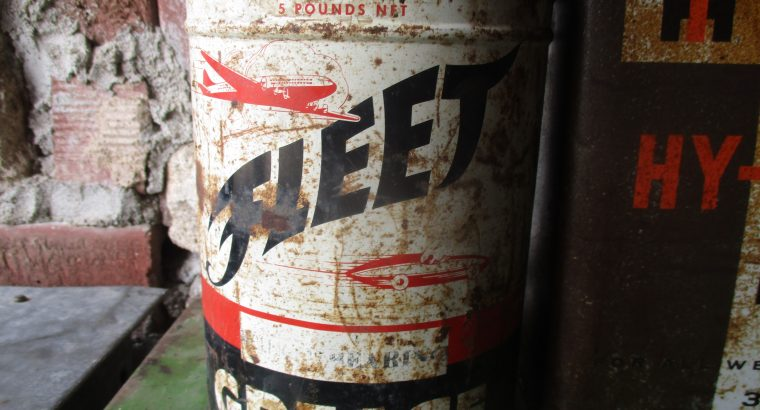 Vintage Grease and Oil cans