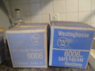 6006 Westingshouse 6V SAFE-T-Beam Head Lamps