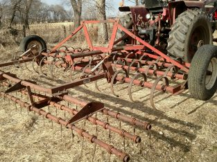 IH 15′ mounted spring tooth with Nobel harrow